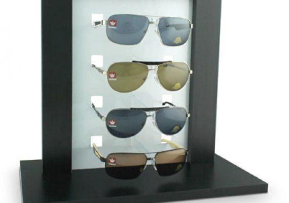 ME038 – Expositor de vitrine para 4 óculos