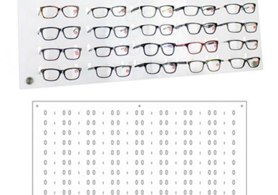 ME165 – Expositor de parede para 104 óculos
