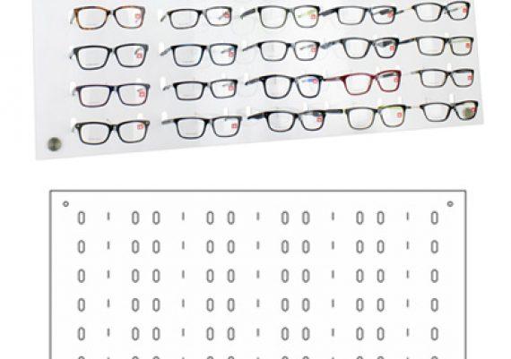 ME167 – Expositor de parede para 40 óculos