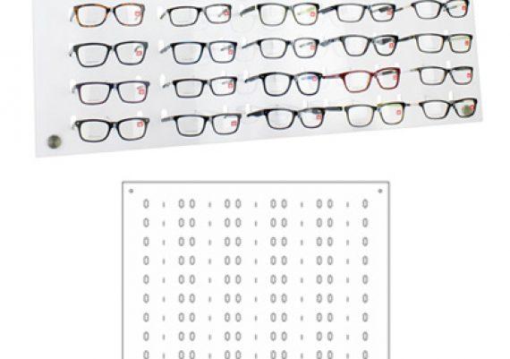 ME166 – Expositor de parede para 65 óculos