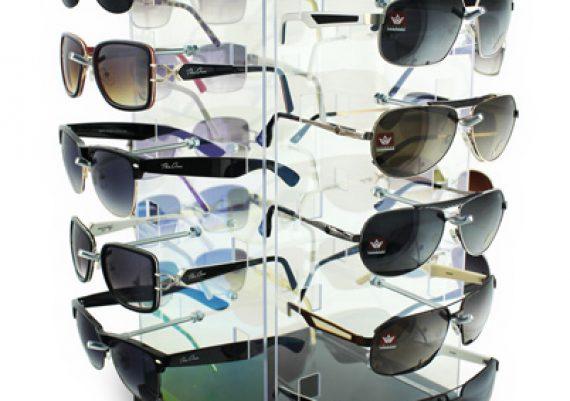 ME099 – Expositor giratório de balcão para 20 óculos