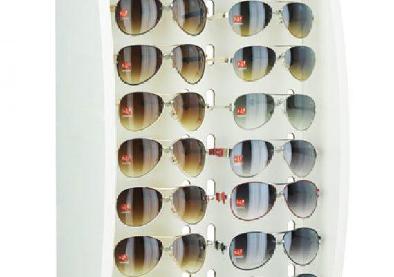 ME129 – Expositor de balcãoparede para 16 óculos