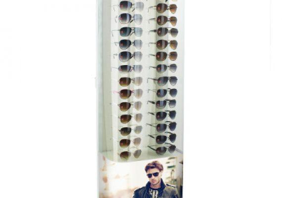 ME135 – Expositor de chão para 36 óculos